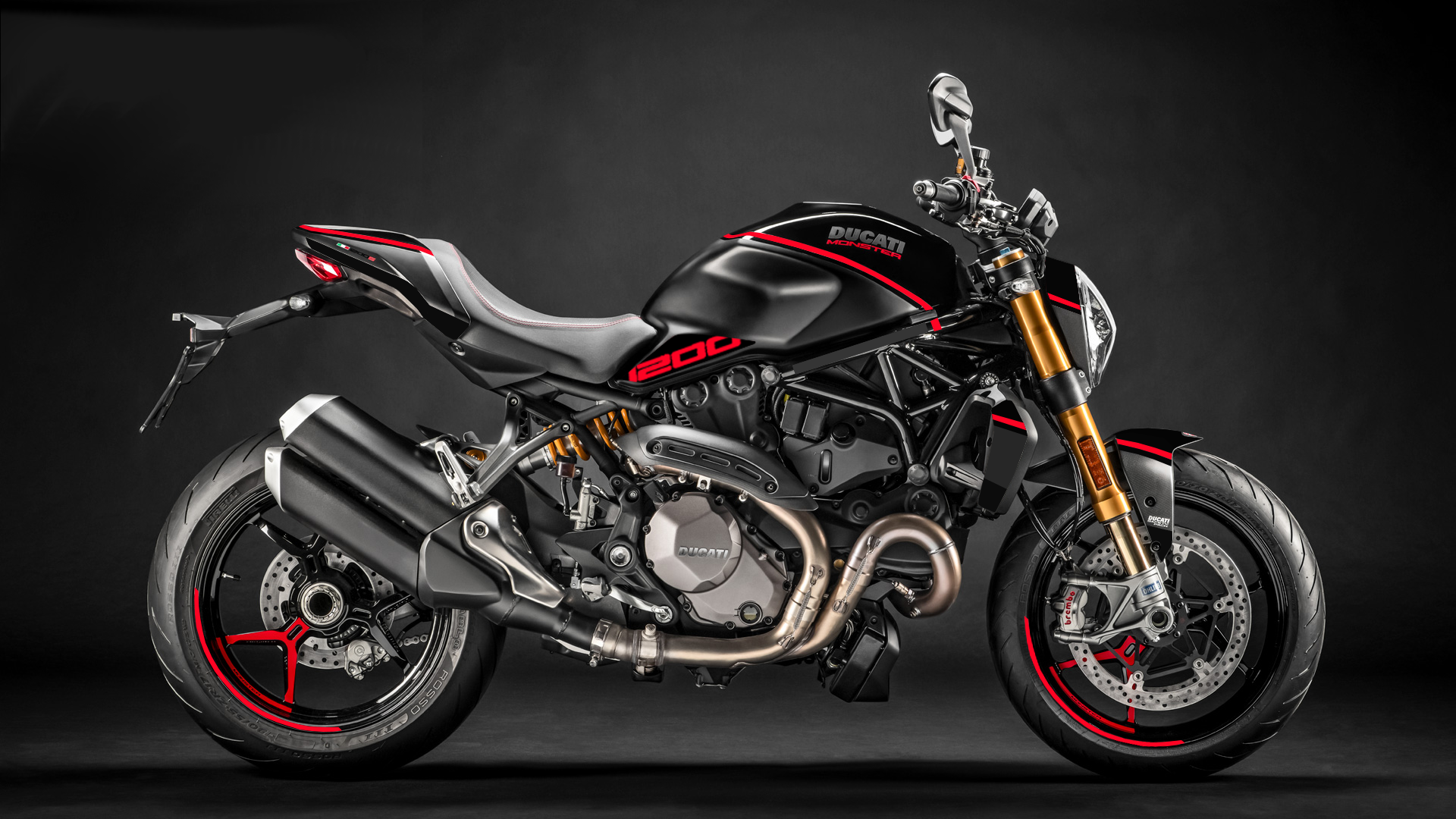 Foliendesign DUCATI  Monster 1200 Bj. 2020 Racing Red