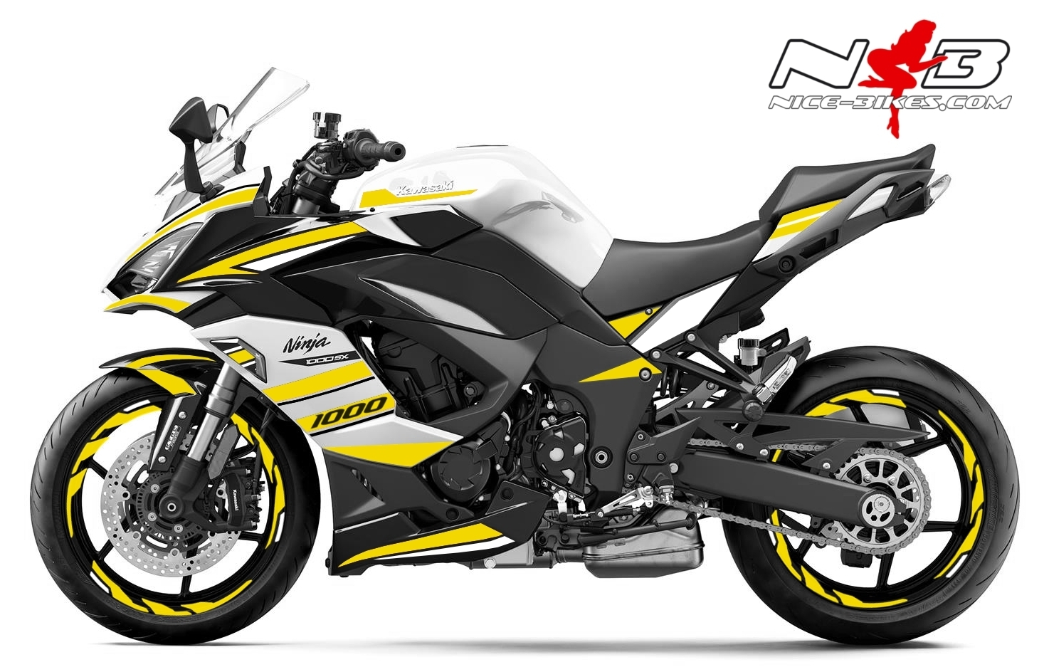 Foliendesign Kawasaki Z1000SX Hornet Yellow