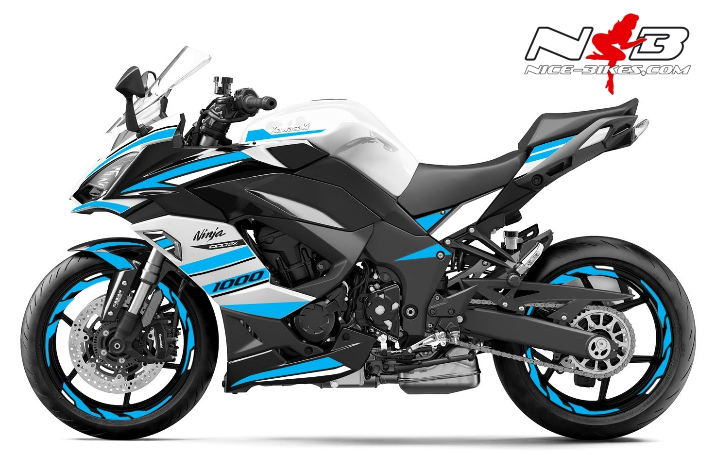 Foliendesign Kawasaki Z1000SX Light Blue