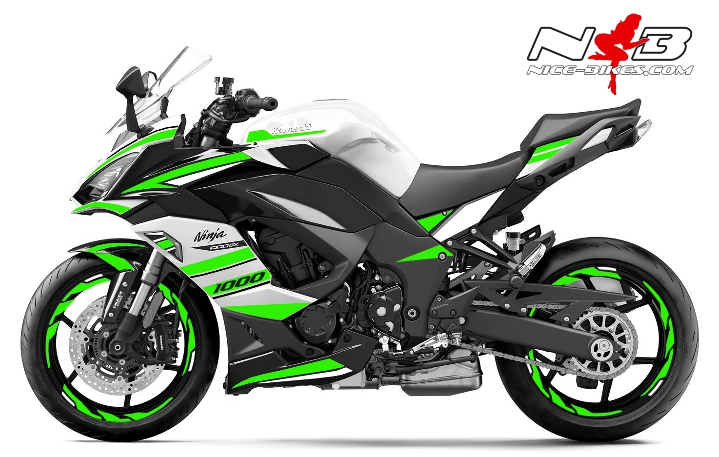 Foliendesign Kawasaki Z1000SX Lime Green