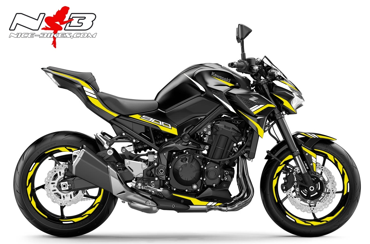 Foliendesign Kawasaki Z900 Bj. 2020 Hornet Yellow