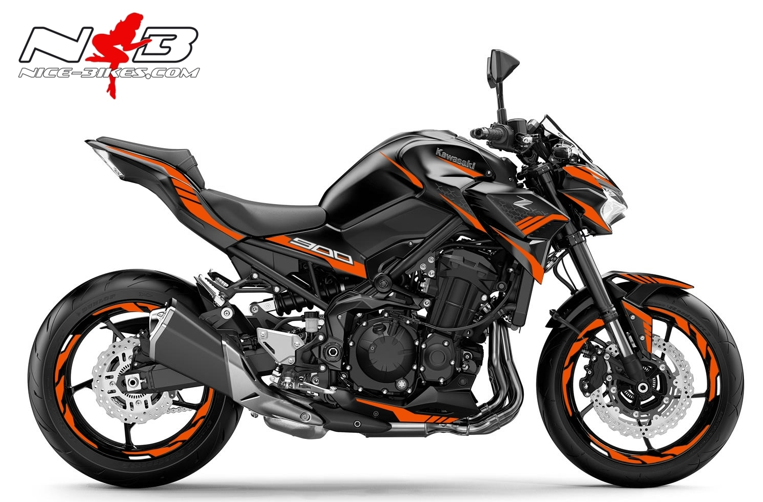 Foliendesign Kawasaki Z900 Bj. 2020 Evil Orange