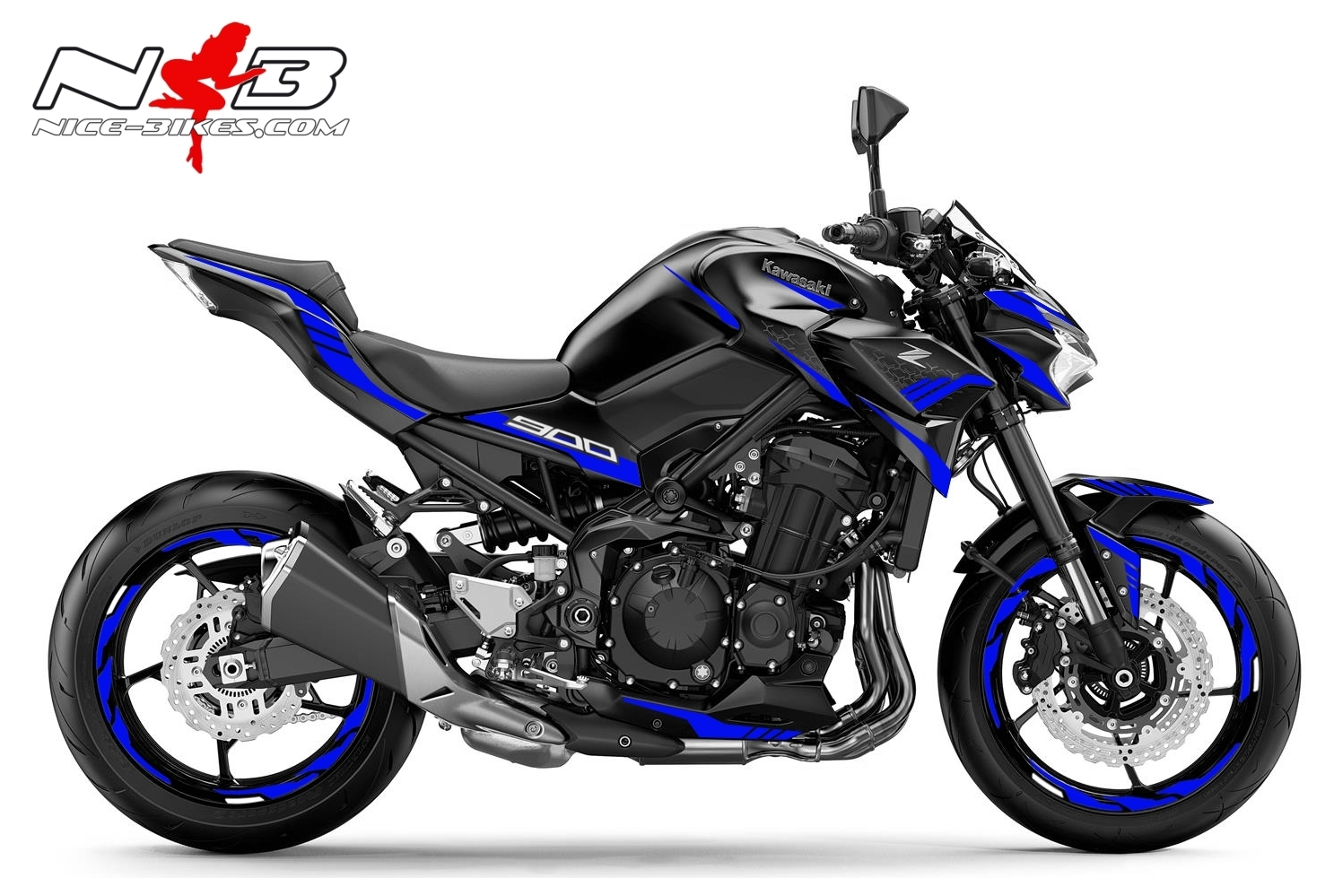 Foliendesign Kawasaki Z900 Bj. 2020 Racing Blue