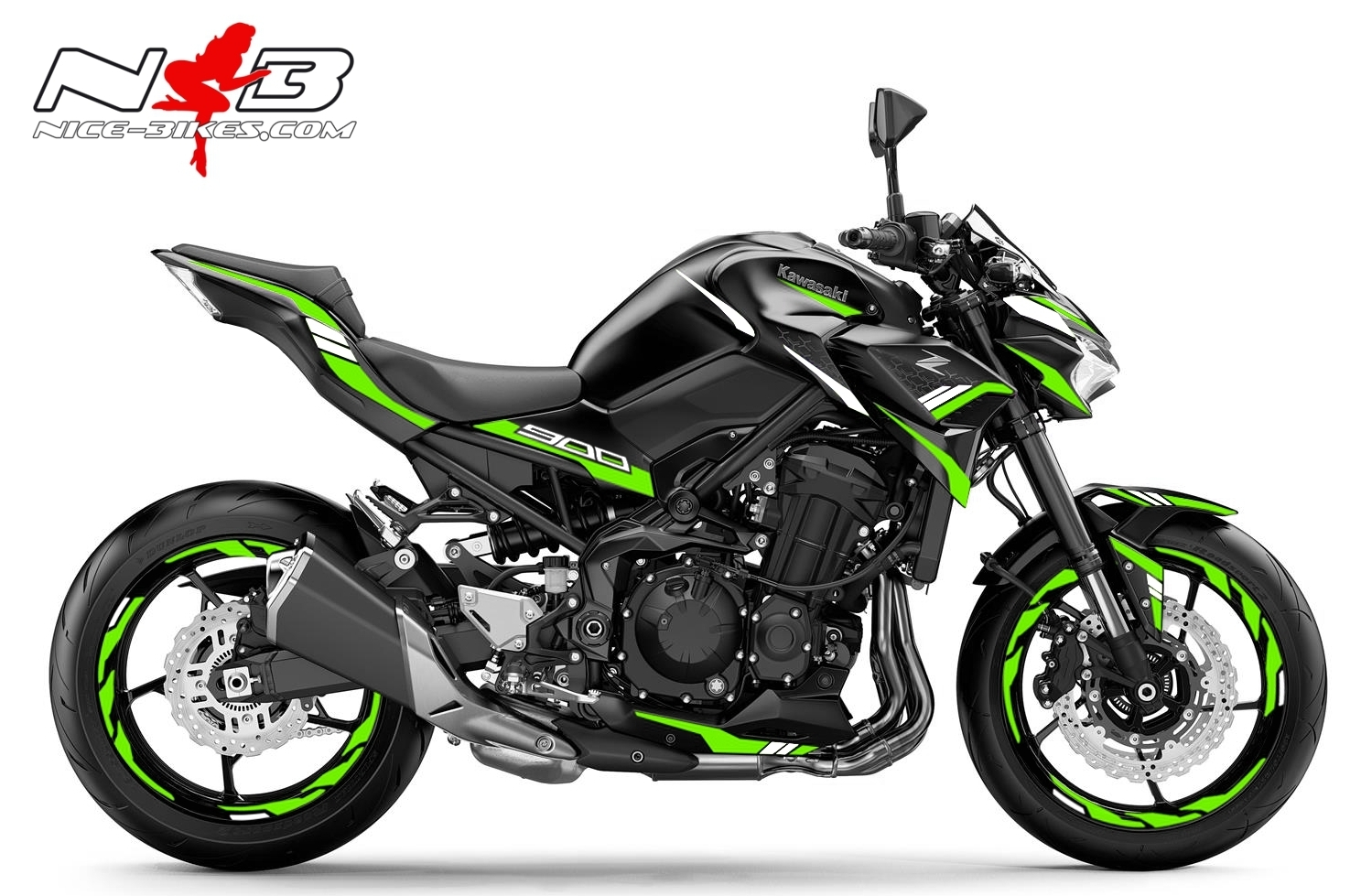 Foliendesign Kawasaki Z900 Bj. 2020 Lime Green