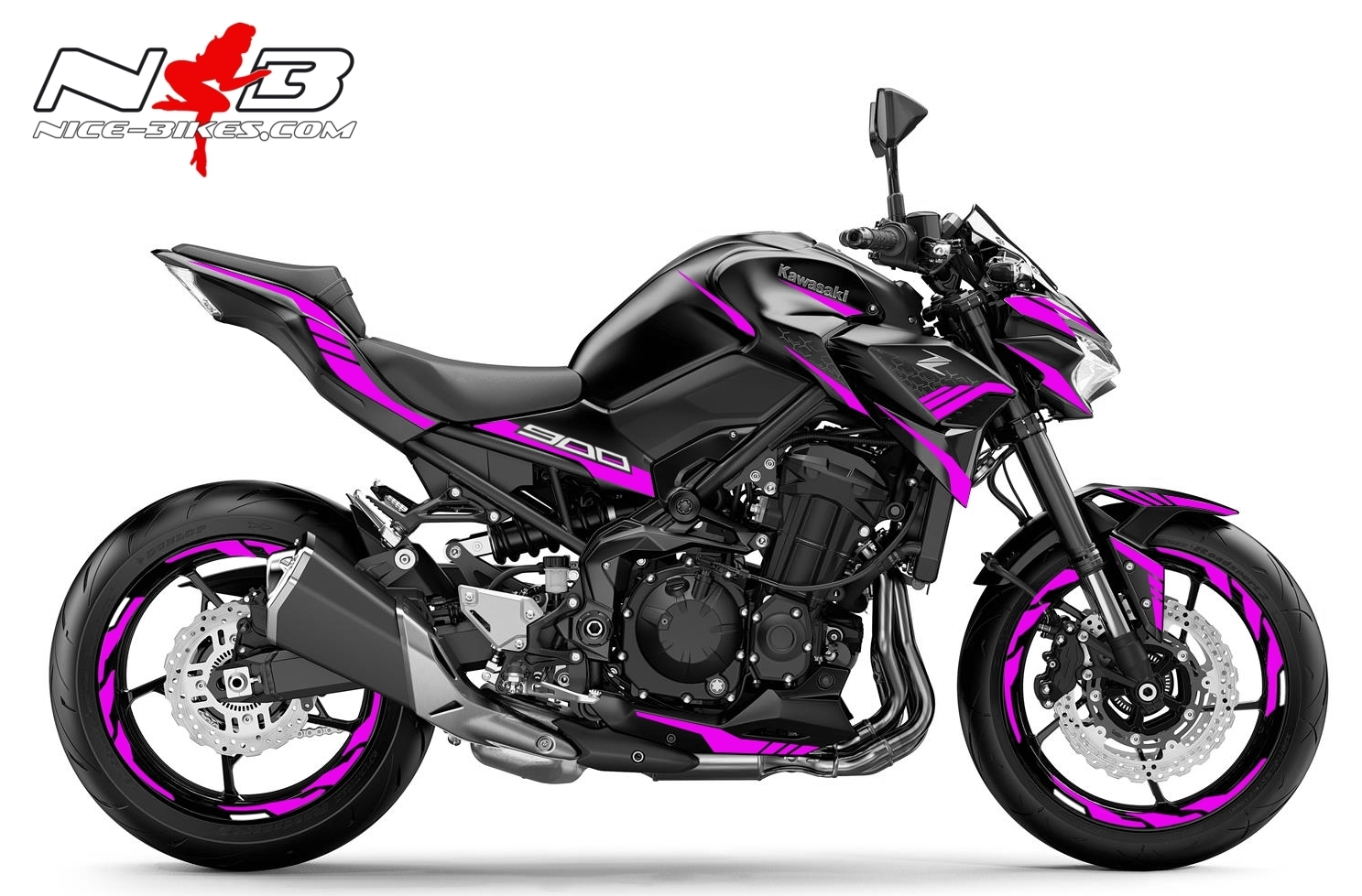 Foliendesign Kawasaki Z900 Bj. 2020 Pretty Pink