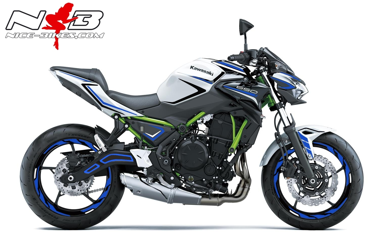 Foliendesign Kawasaki Z650 Bj. 2020 Racing Blue