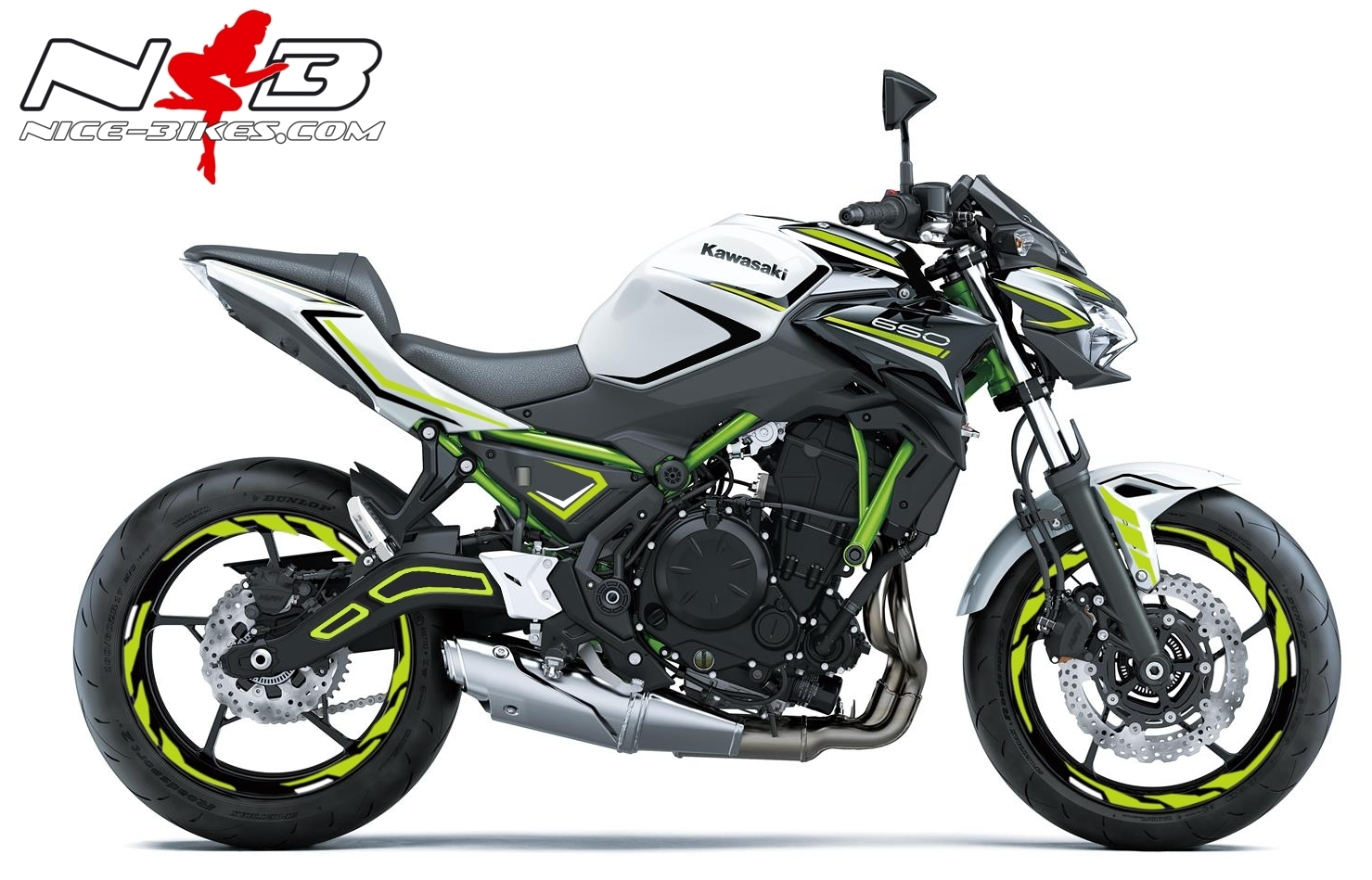 Foliendesign Kawasaki Z650 Bj. 2020 Lime Green