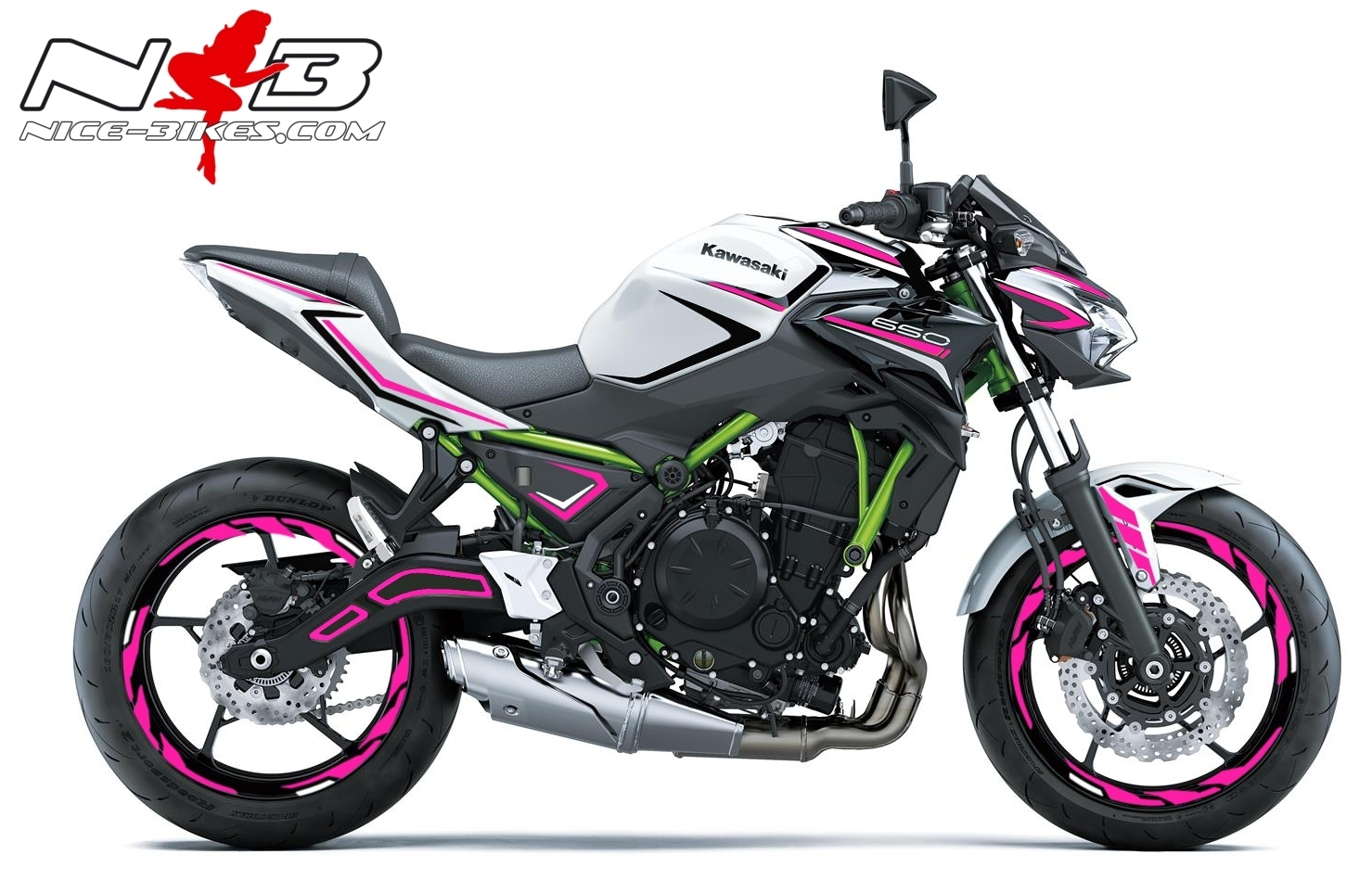 Foliendesign Kawasaki Z650 Bj. 2020 Pretty Pink