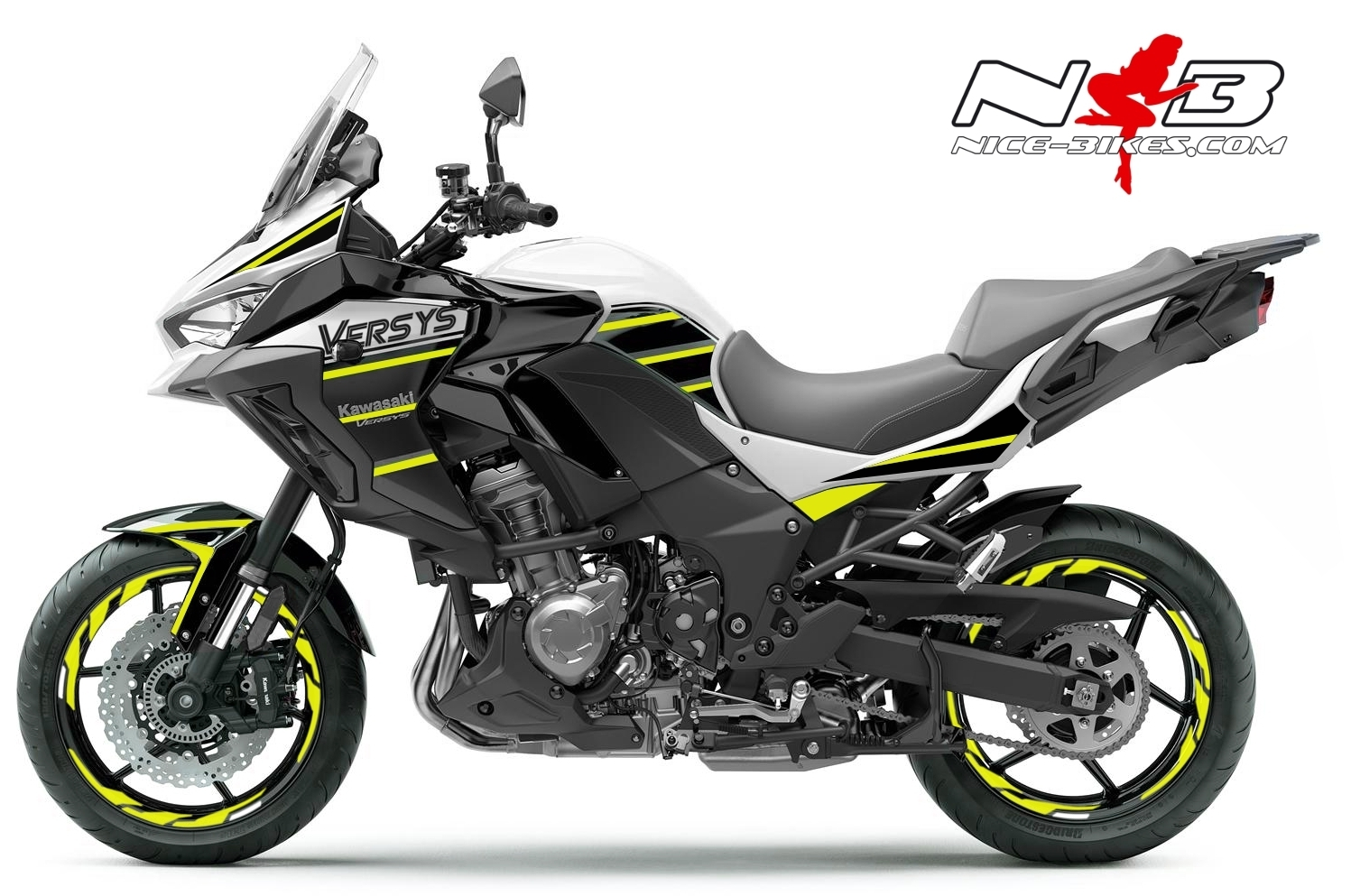 Foliendesign Kawasaki Versys 1000 Bj. 2020 Hornet Yellow