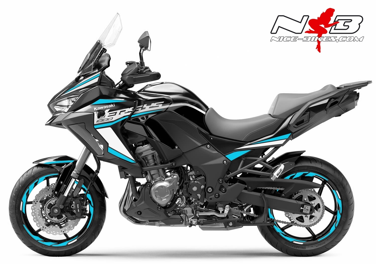 Foliendesign Kawasaki Versys 1000 Bj. 2020 Light Blue