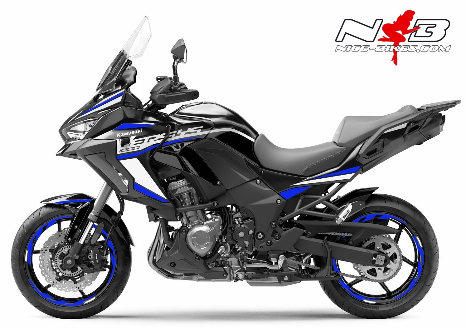 Foliendesign Kawasaki Versys 1000 Bj. 2020 Racing Blue