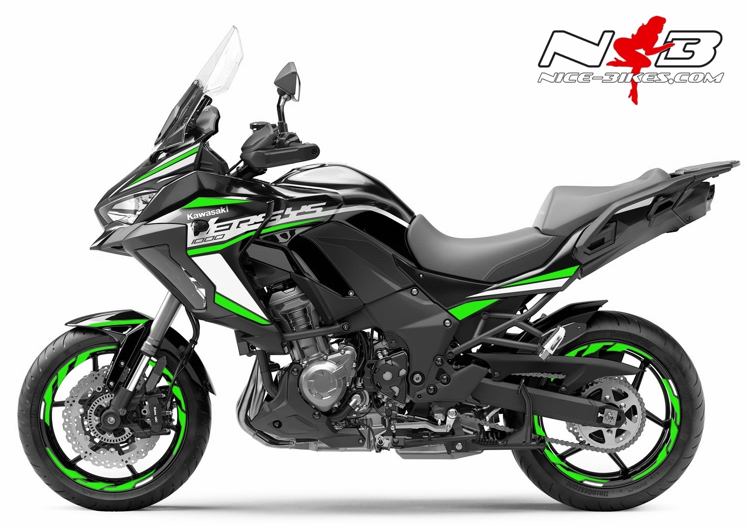 Foliendesign Kawasaki Versys 1000 Bj. 2020 Lime Green