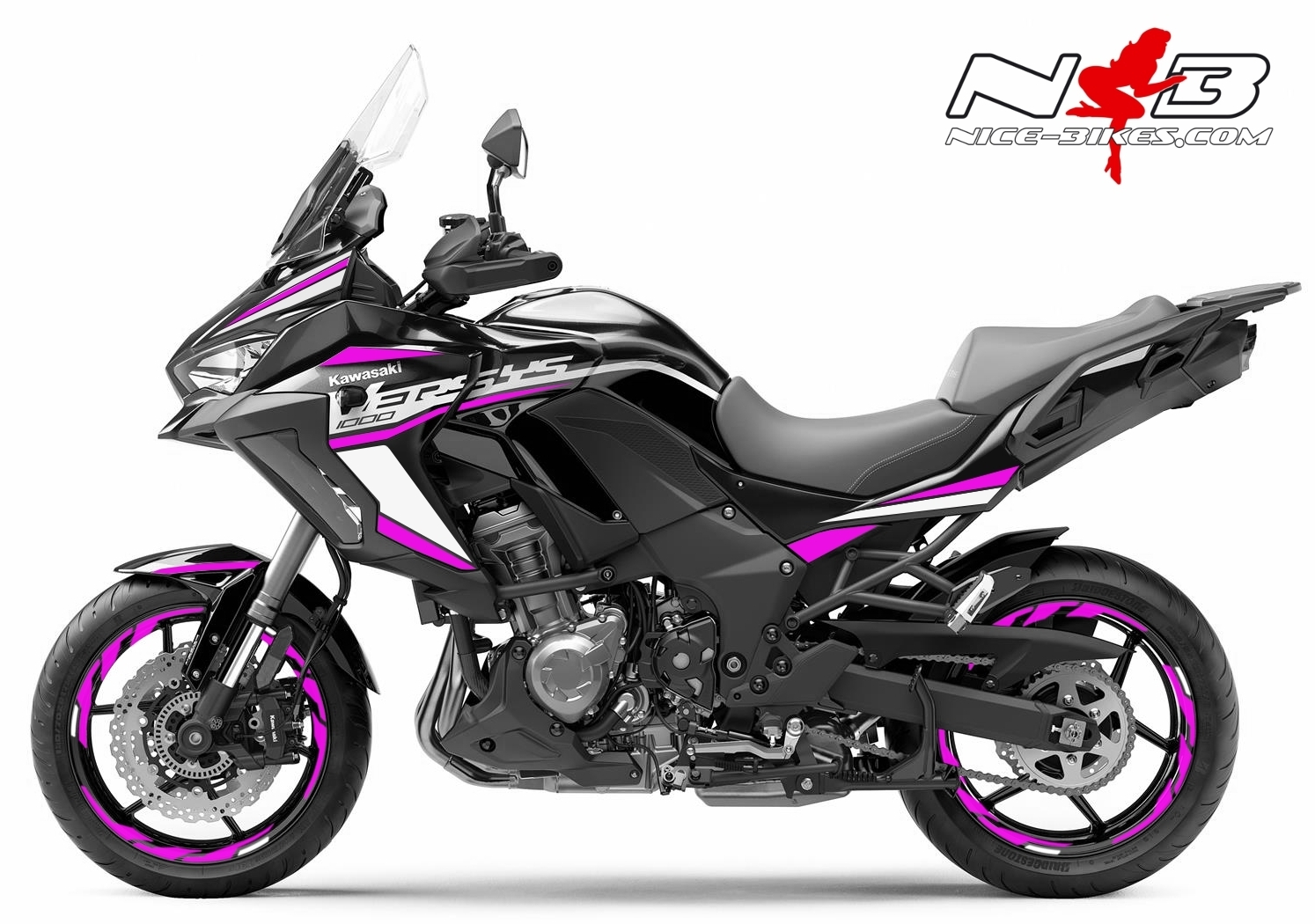 Foliendesign Kawasaki Versys 1000 Bj. 2020 Pretty Pink