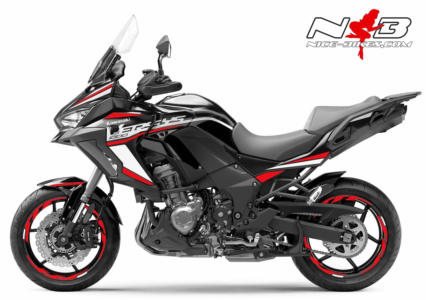Foliendesign Kawasaki Versys 1000 Bj. 2020 Racing Red