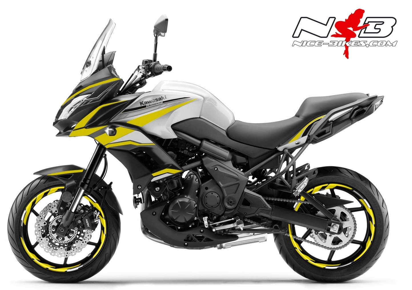 Foliendesign Kawasaki Versys 650 Bj. 2020 Hornet Yellow