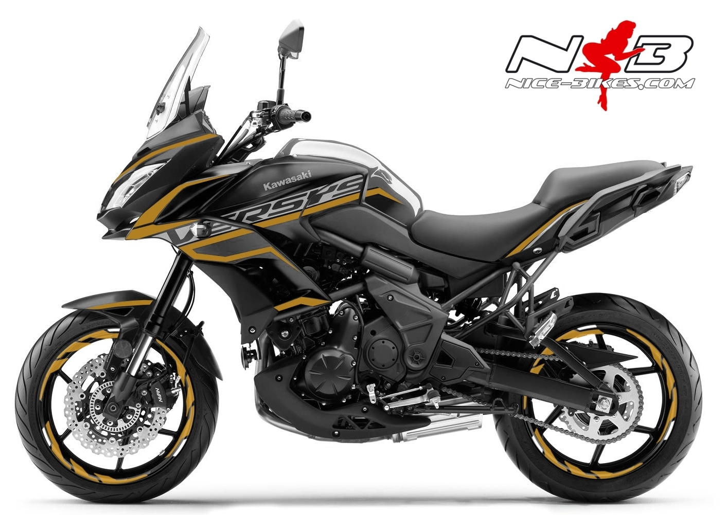 Foliendesign Kawasaki Versys 650 Bj. 2020 Olympic Gold