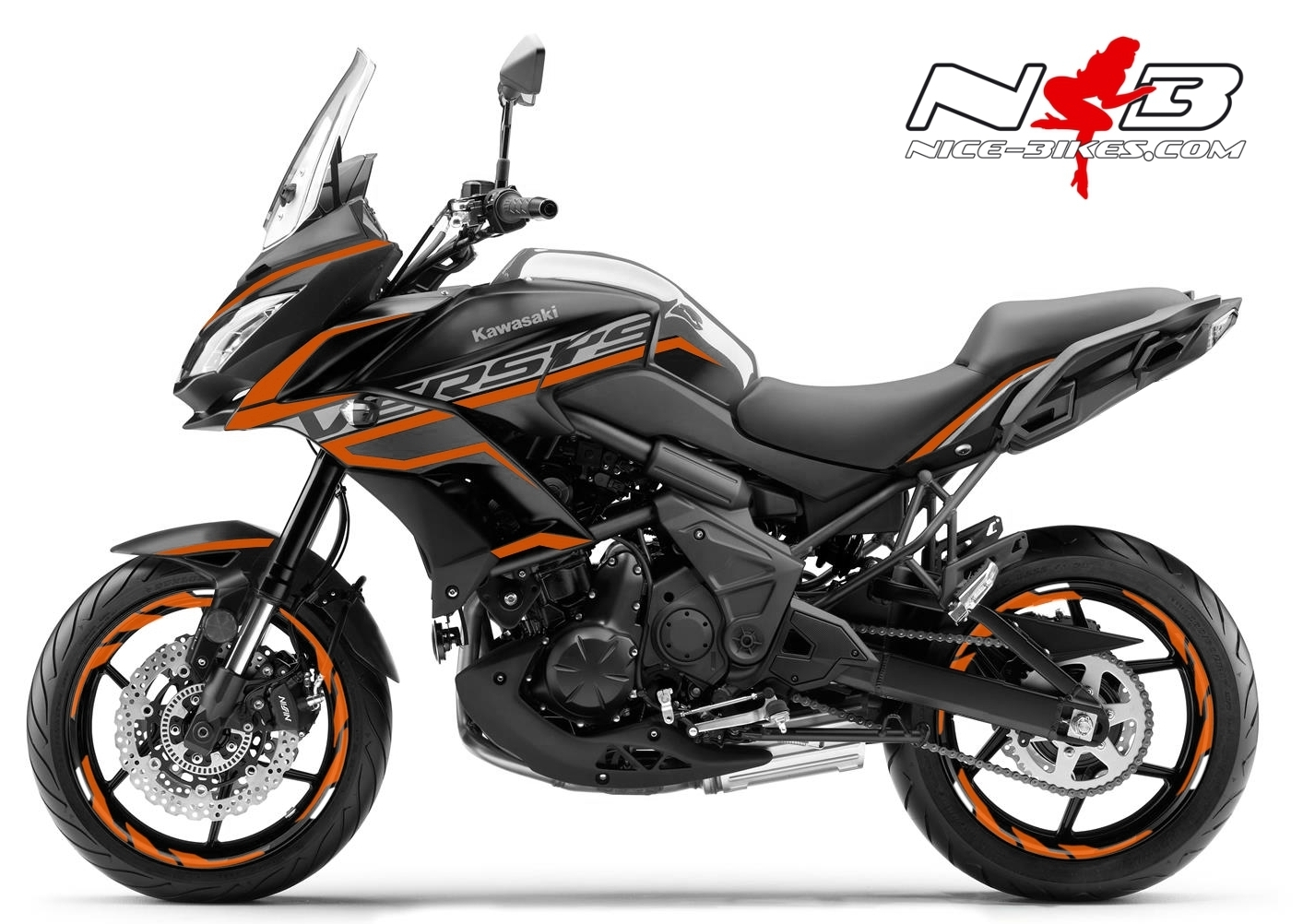 Foliendesign Kawasaki Versys 650 Bj. 2020 Evil Orange