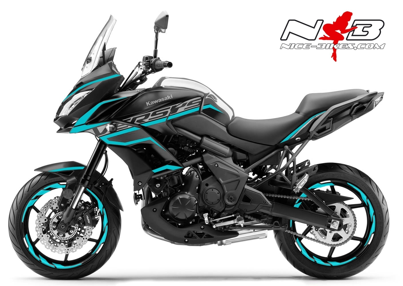 Foliendesign Kawasaki Versys 650 Bj. 2020 Light Blue