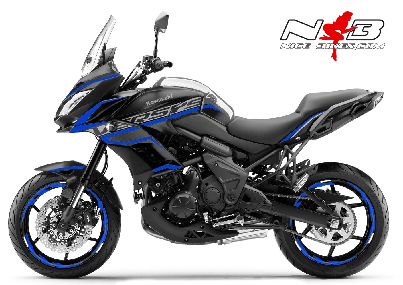 Foliendesign Kawasaki Versys 650 Bj. 2020 Racing Blue