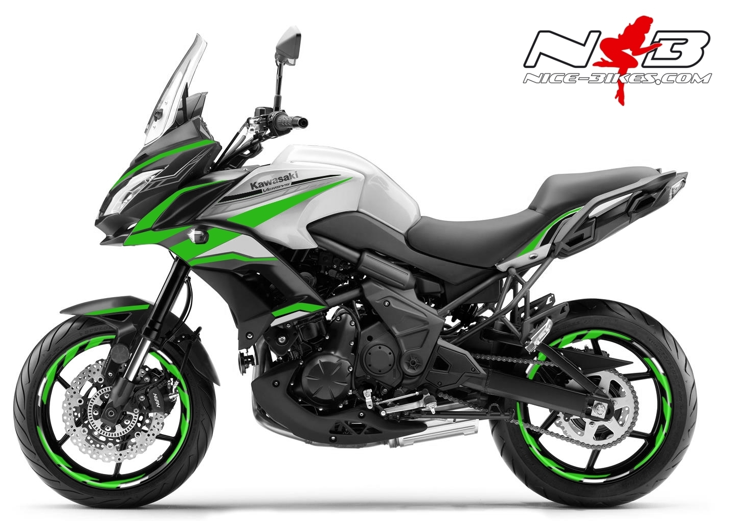 Foliendesign Kawasaki Versys 650 Bj. 2020 Lime Green