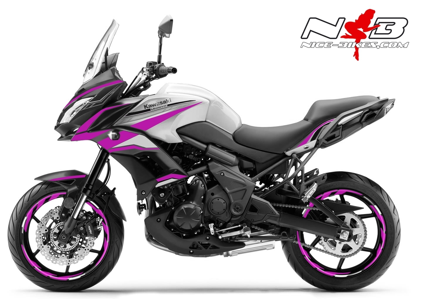 Foliendesign Kawasaki Versys 650 Bj. 2020 Pretty Pink