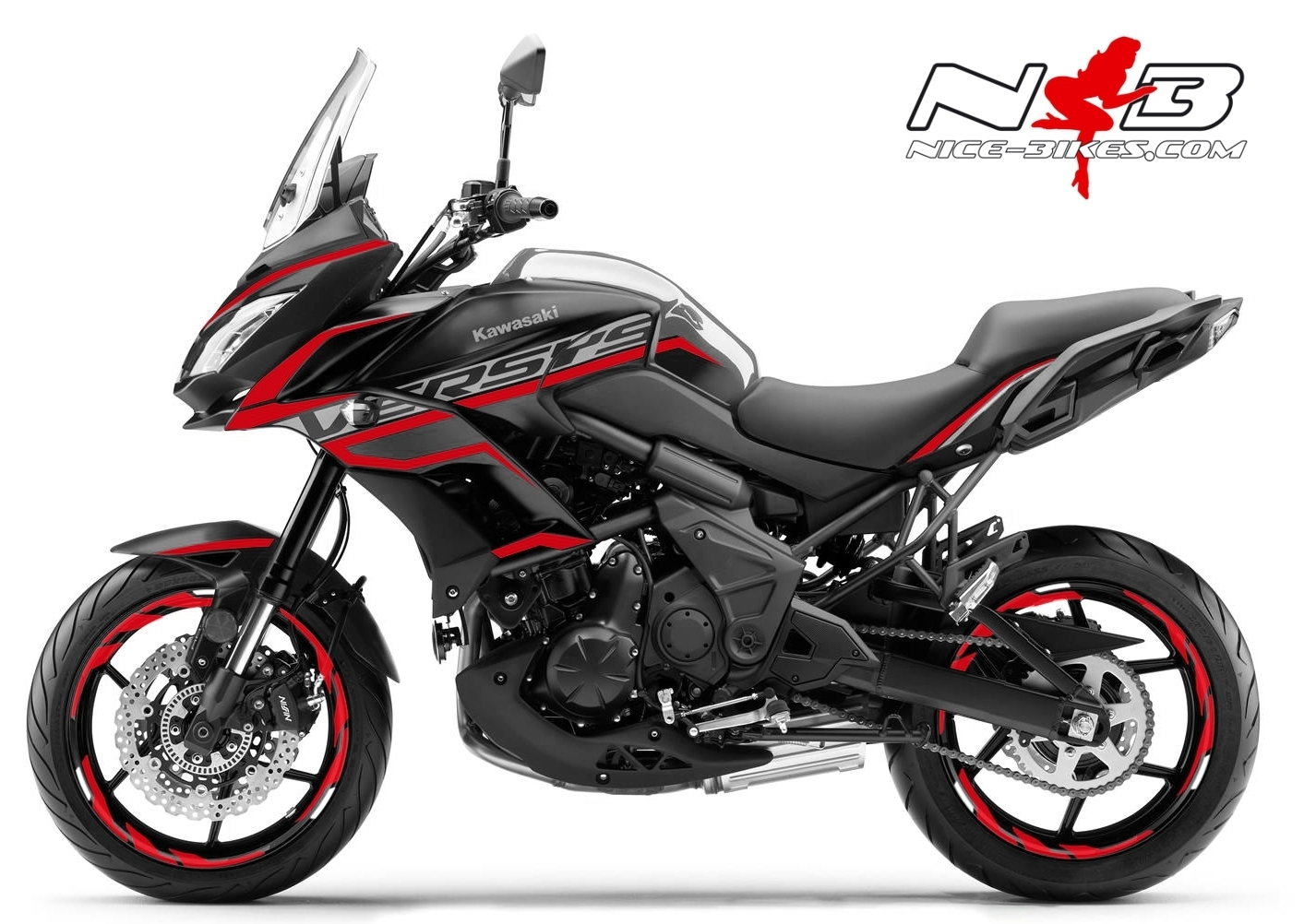 Foliendesign Kawasaki Versys 650 Bj. 2020 Racing Red