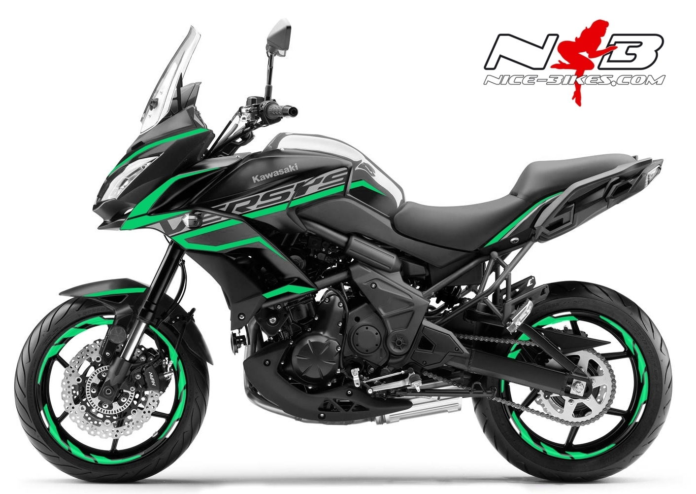 Foliendesign Kawasaki Versys 650 Bj. 2020 Mint Blue