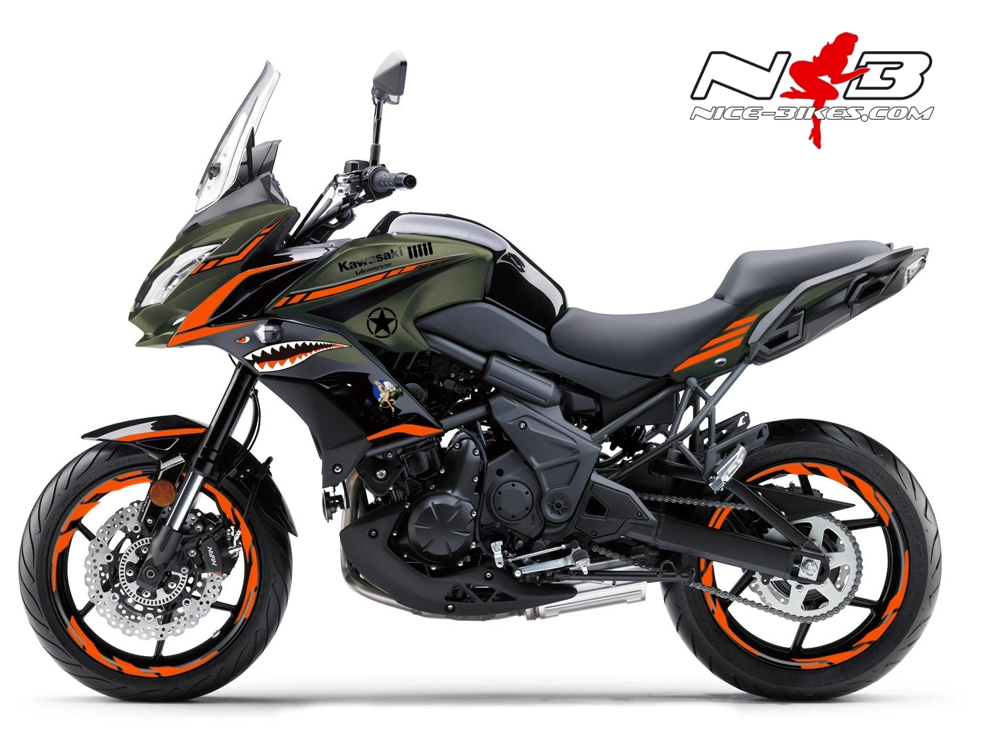 Foliendesign Kawasaki Versys 650 Bj. 2020 Nose Art