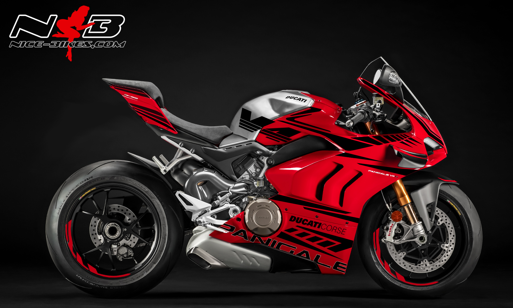 Foliendesign DUCATI Panigale V4R Bj. 2020 Magic Black