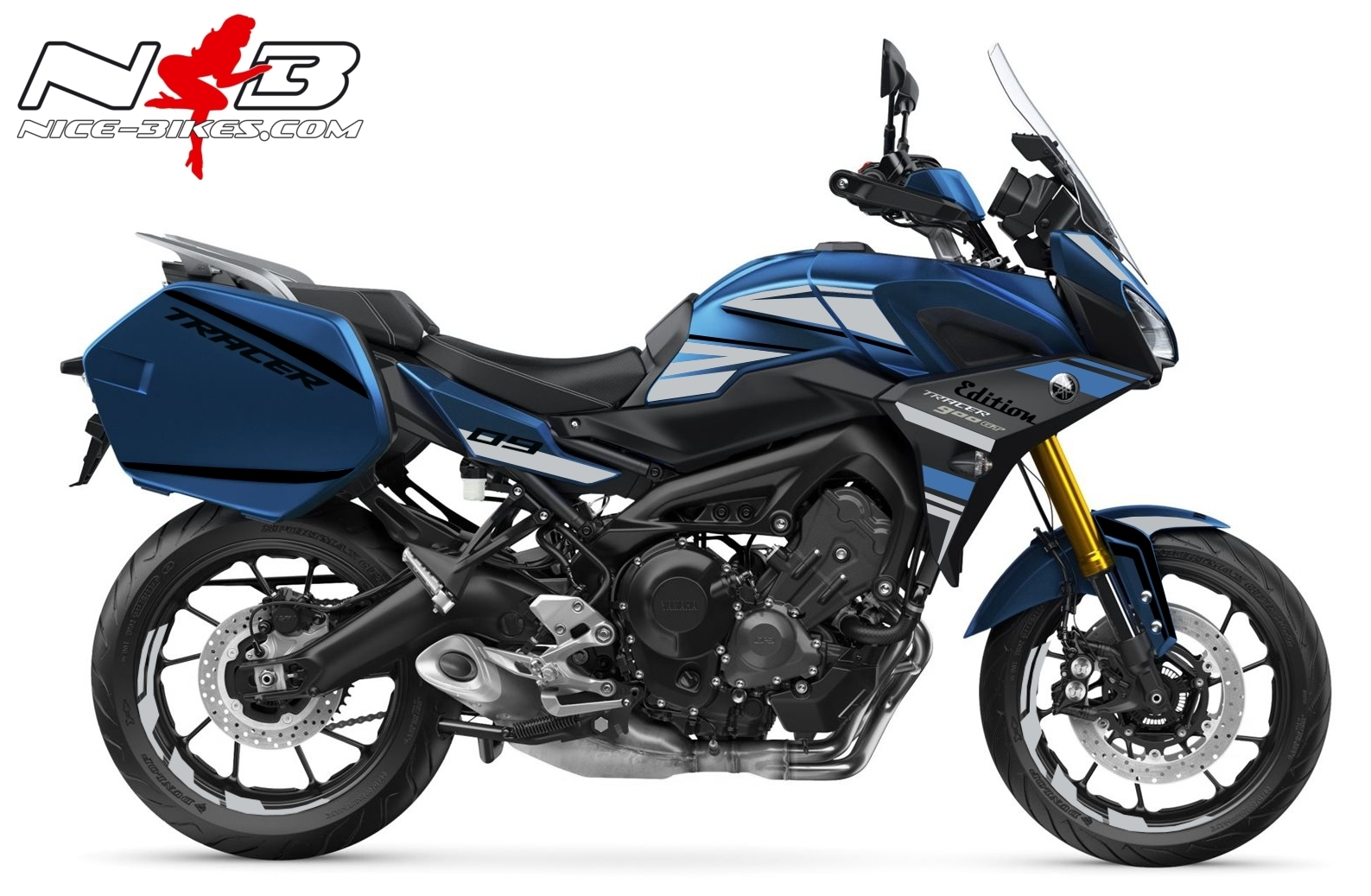Foliendesign YAMAHA MT09 Tracer Bj. 2020 Racing Blue
