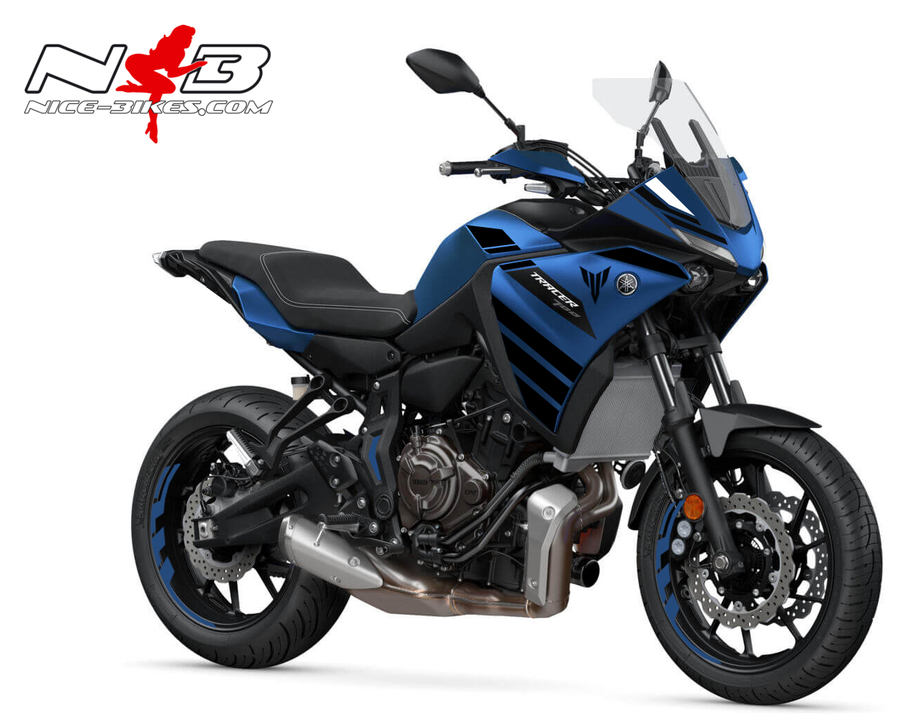 Foliendesign YAMAHA MT07 Tracer Bj. 2020 Racing Blue