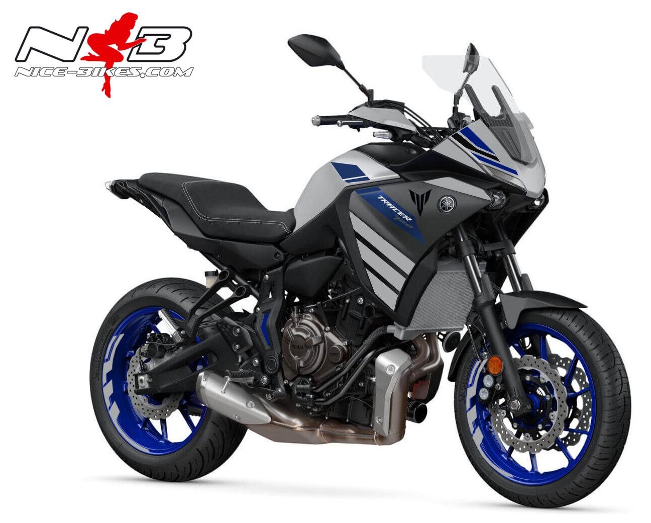Foliendesign YAMAHA MT07 Tracer Bj. 2020 Racing Grey
