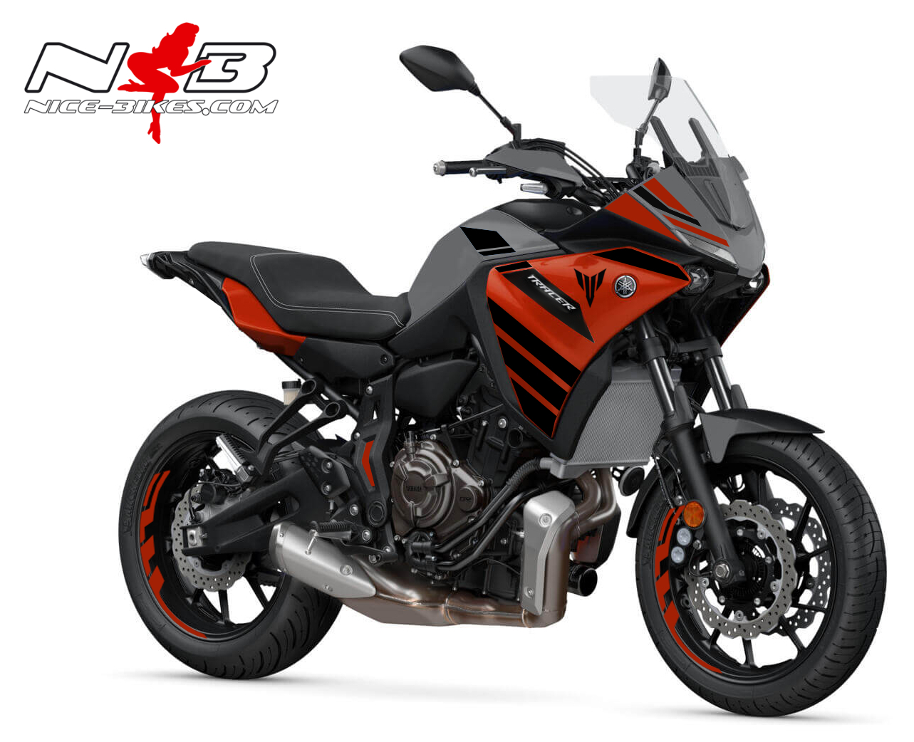 Foliendesign YAMAHA MT07 Tracer Bj. 2020  Racing Red