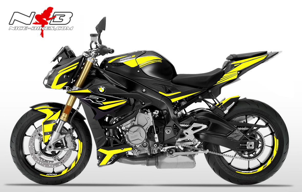 Foliendesign BMW S1000R (Bj. 2020) Hornet Yellow