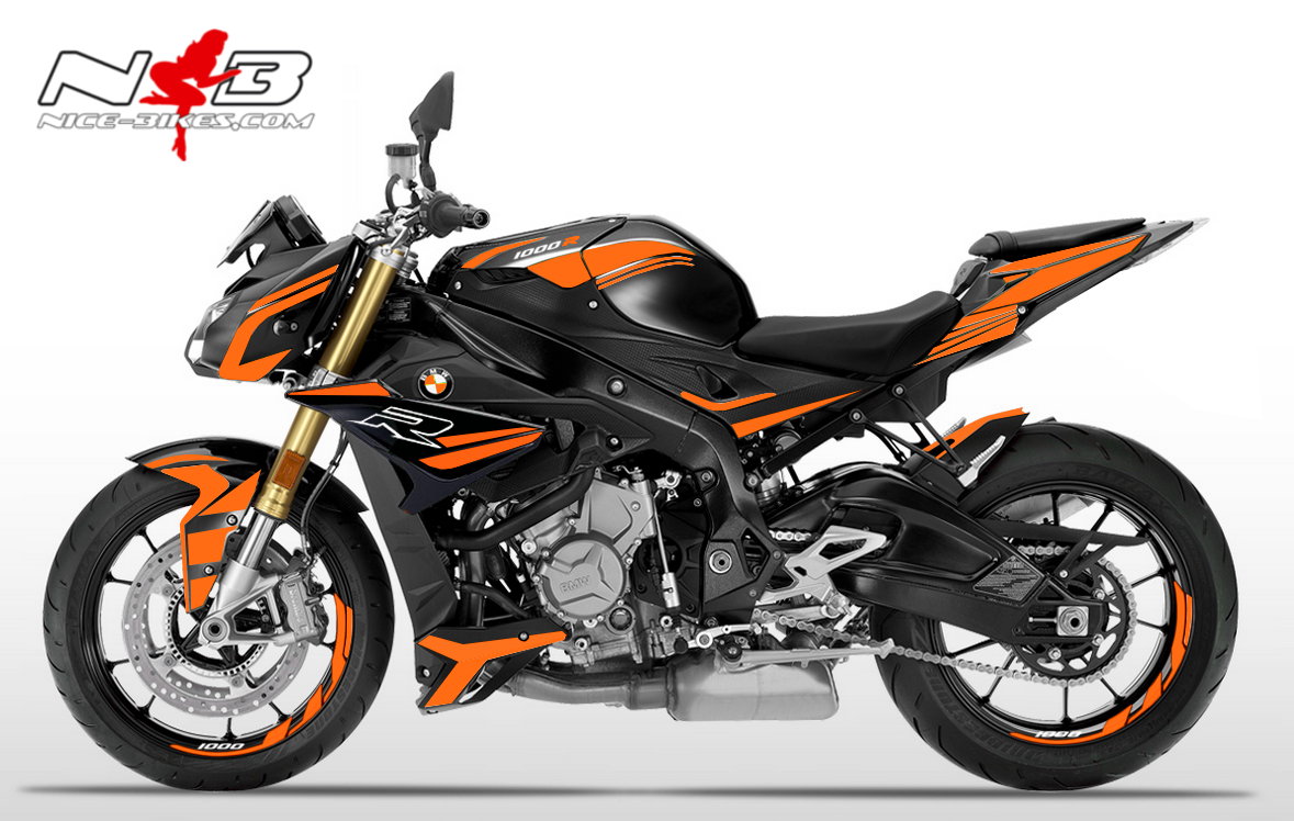 Foliendesign BMW S1000R (Bj. 2020) Evil Orange