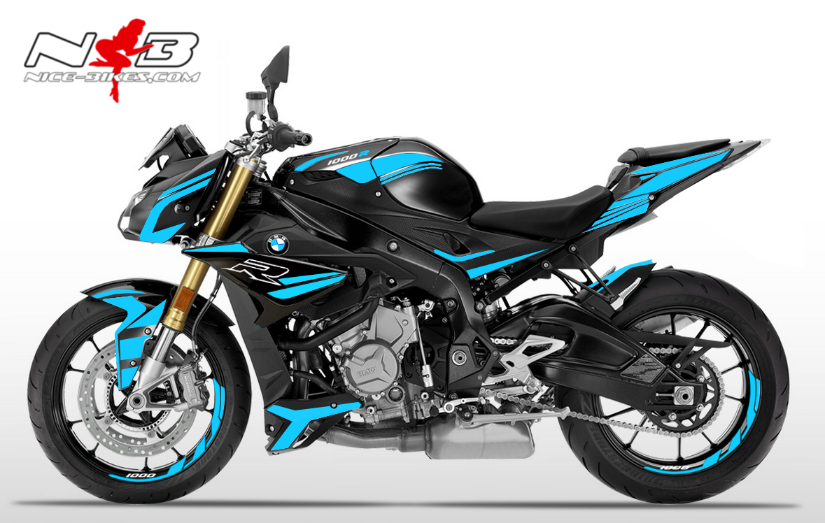 Foliendesign BMW S1000R (Bj. 2020) Light Blue
