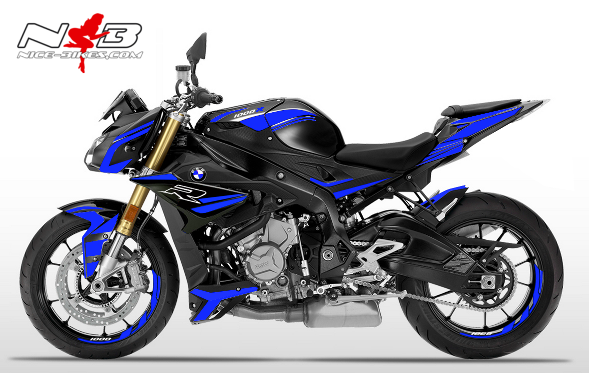 Foliendesign BMW S1000R (Bj. 2020) Racing Blue