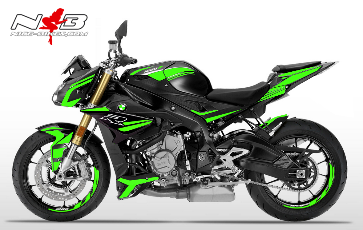 Foliendesign BMW S1000R (Bj. 2020) Lime Green