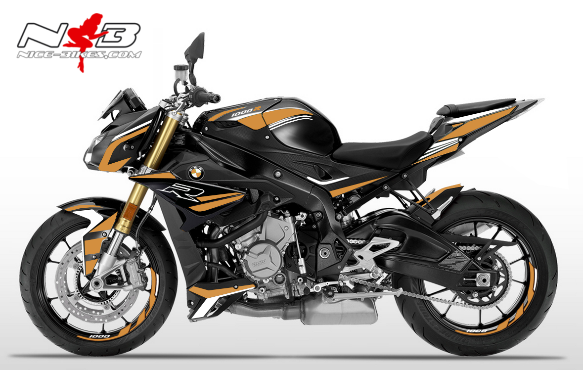 Foliendesign BMW S1000R (Bj. 2020) Olympic Gold