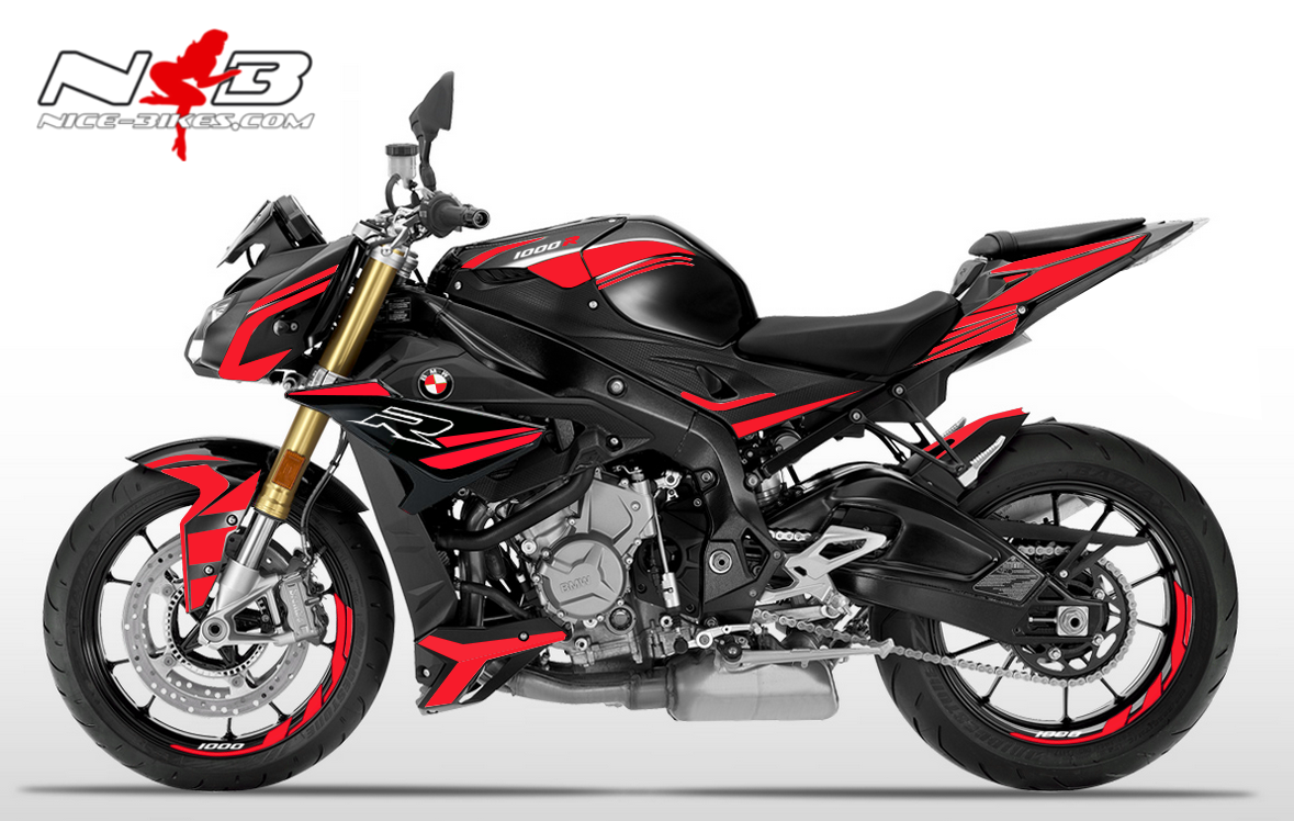 Foliendesign BMW S1000R (Bj. 2020) Racing Red