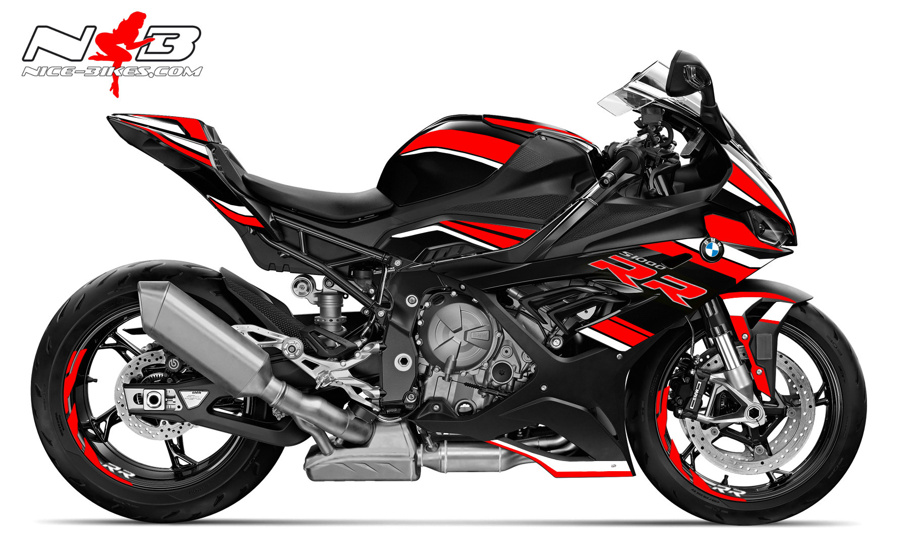 Foliendesign S1000RR (Bj. 2021) Racing Red