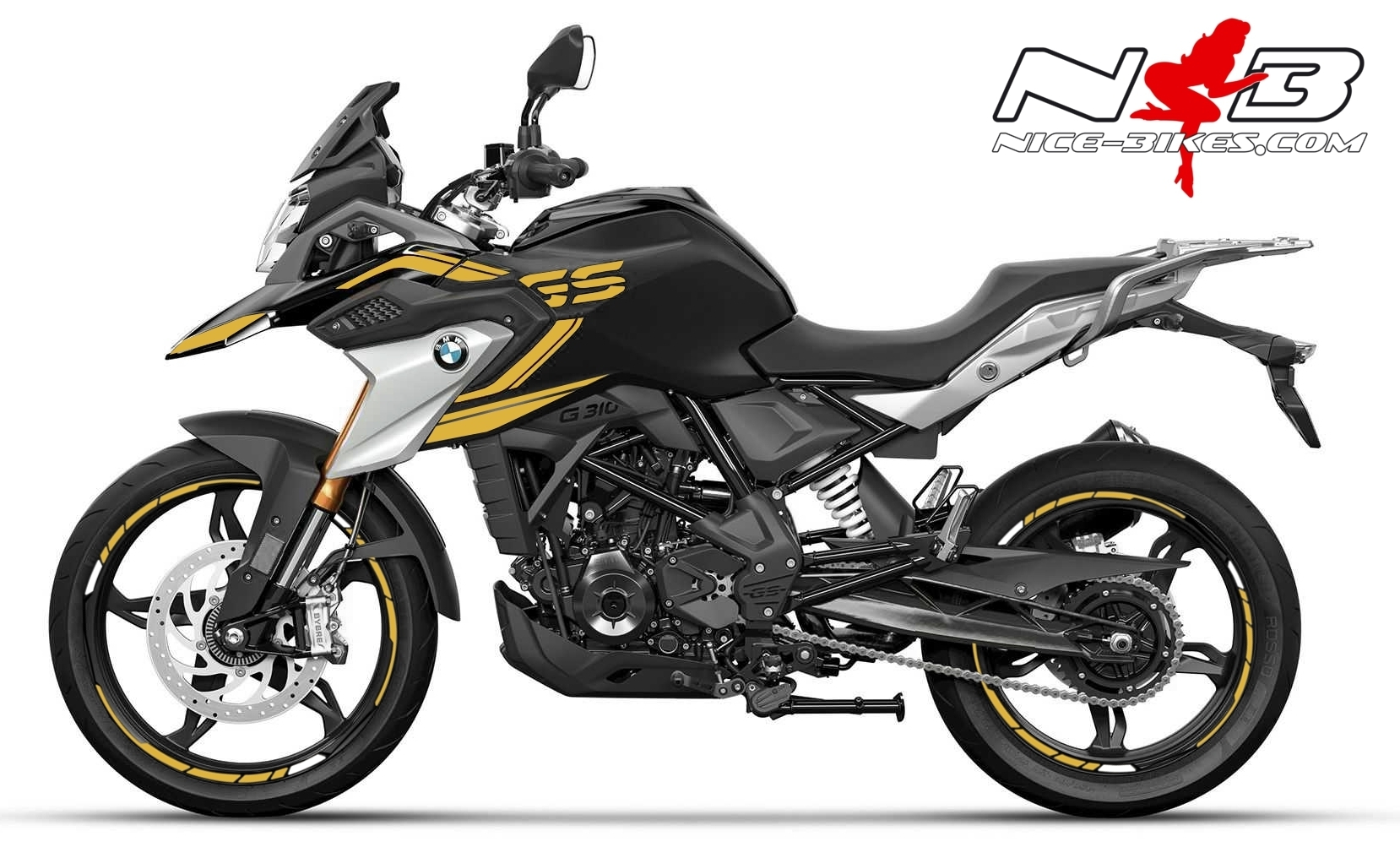Foliendesign BMW G310GS 2021 Olympic Gold