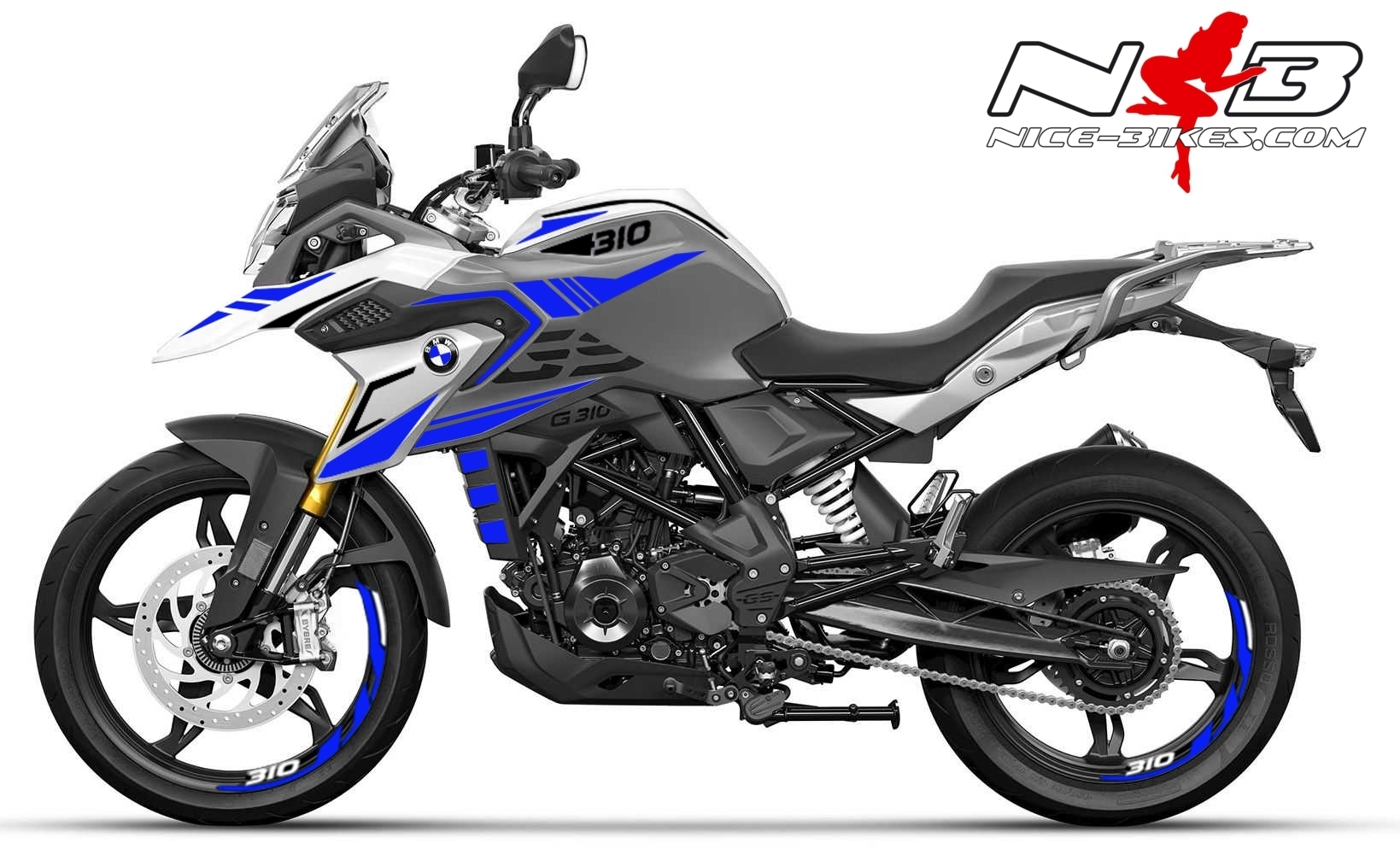 Foliendesign BMW G310GS 2021 Racing Blue