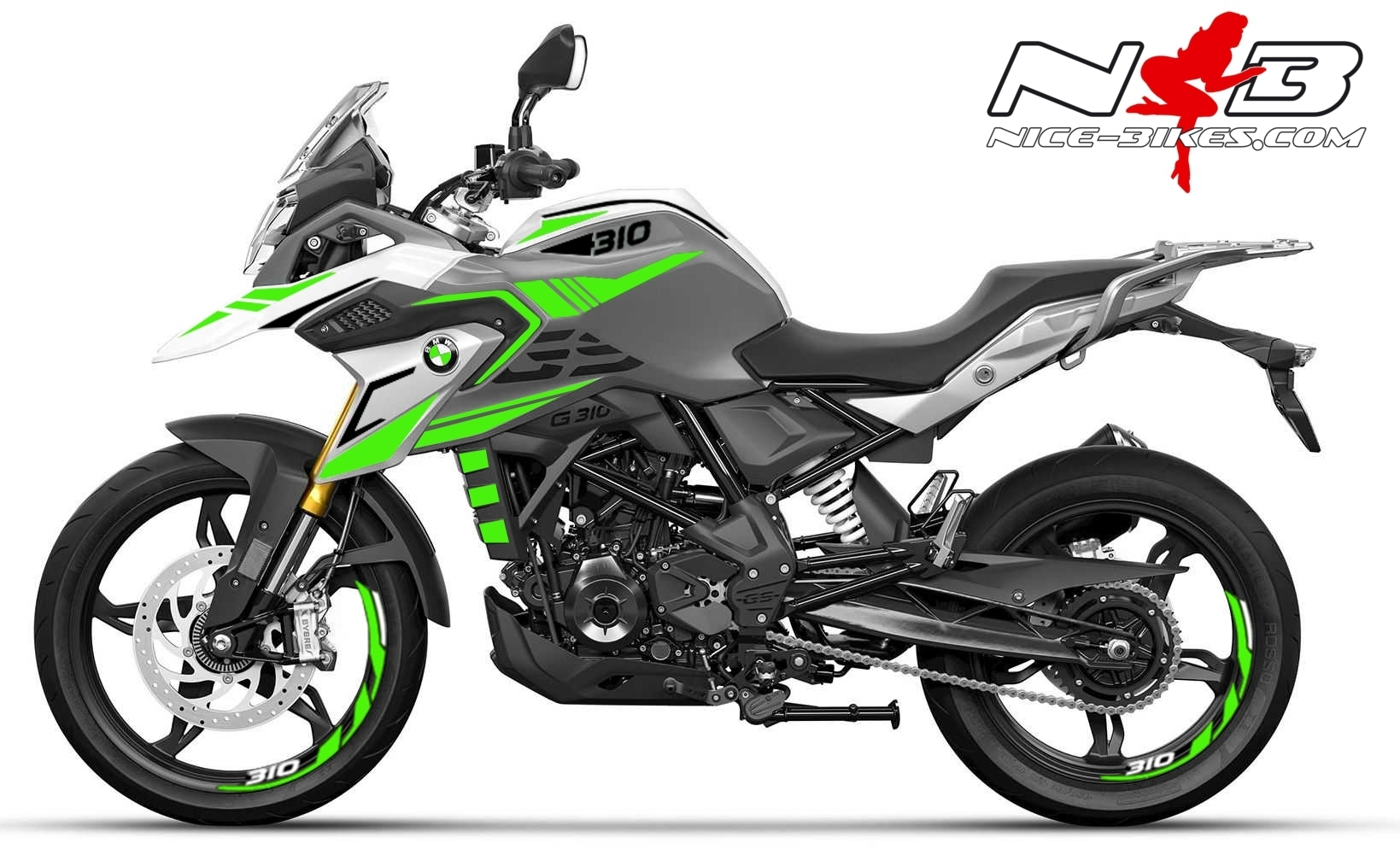 Foliendesign BMW G310GS 2021 Lime Green