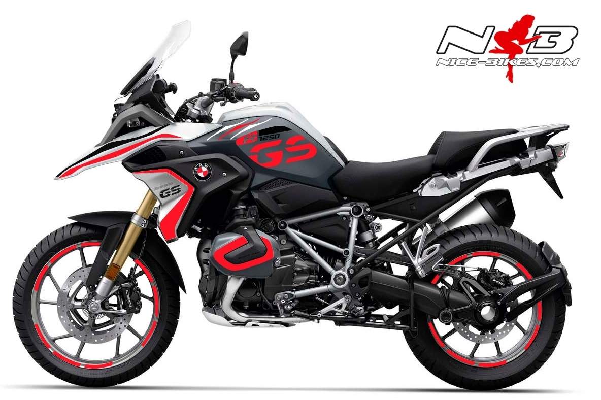 Foliendesign BMW R1250GS (Bj. 2021) Racing Red