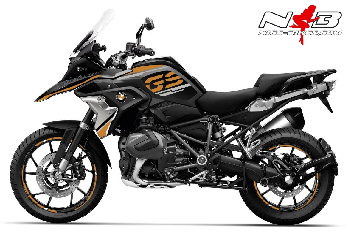 Foliendesign BMW R1250GS (Bj. 2021) Olympic Gold