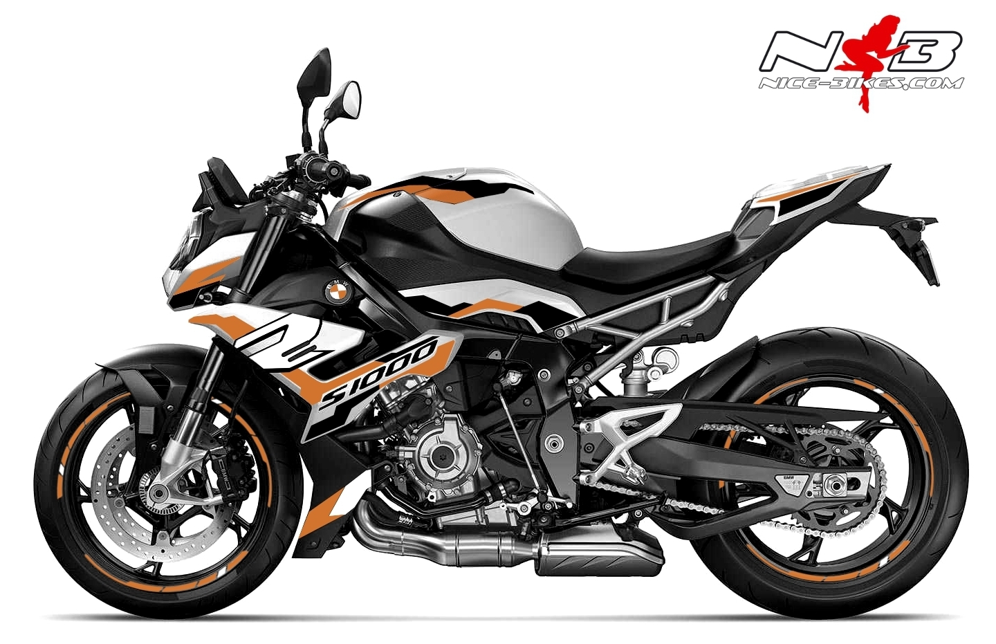 Foliendesign BMW S1000R (Bj. 2021) Olympic Gold