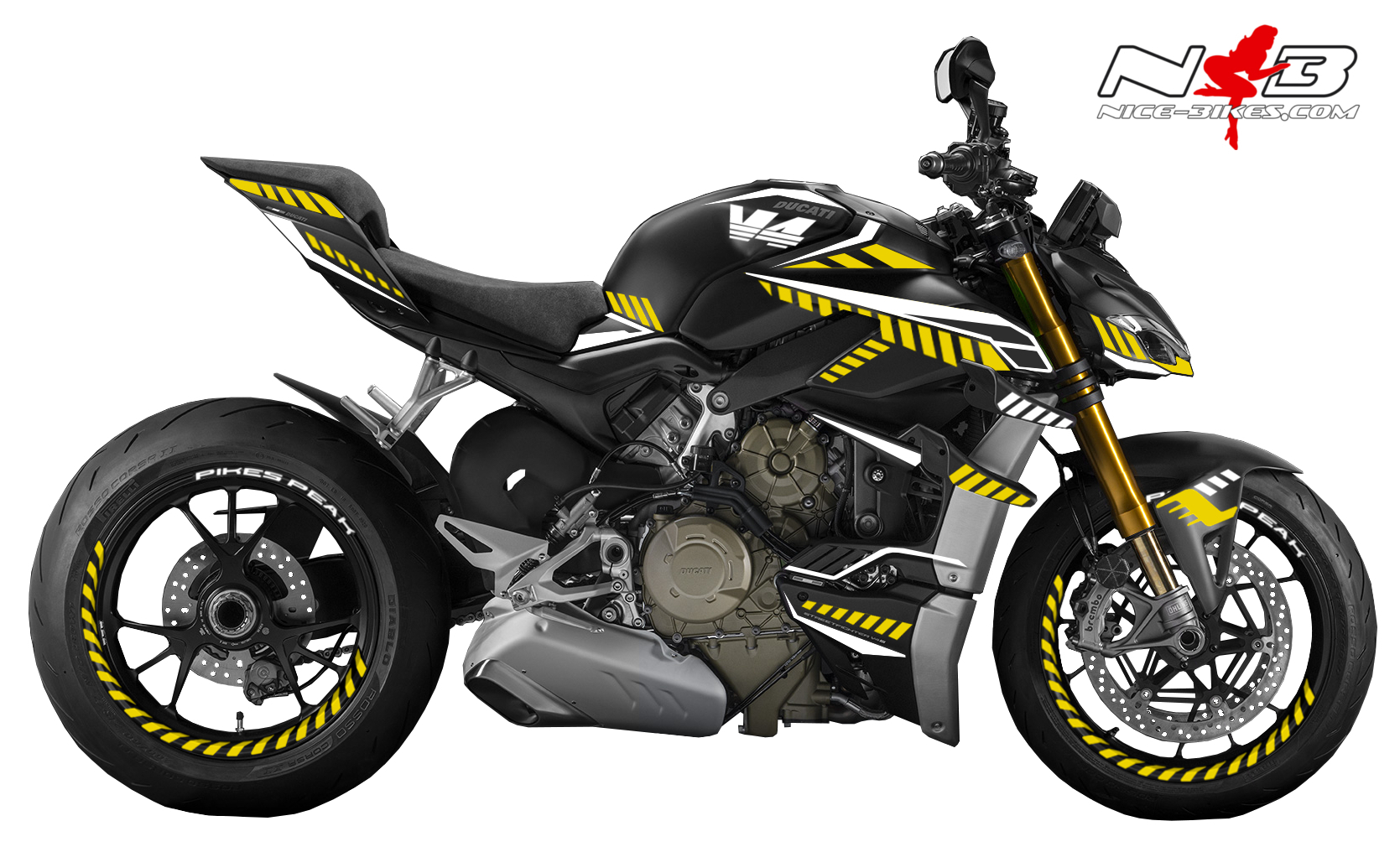 Foliendesign DUCATI Streetfighter ab 2021 Inferno Edition Hornet Yellow