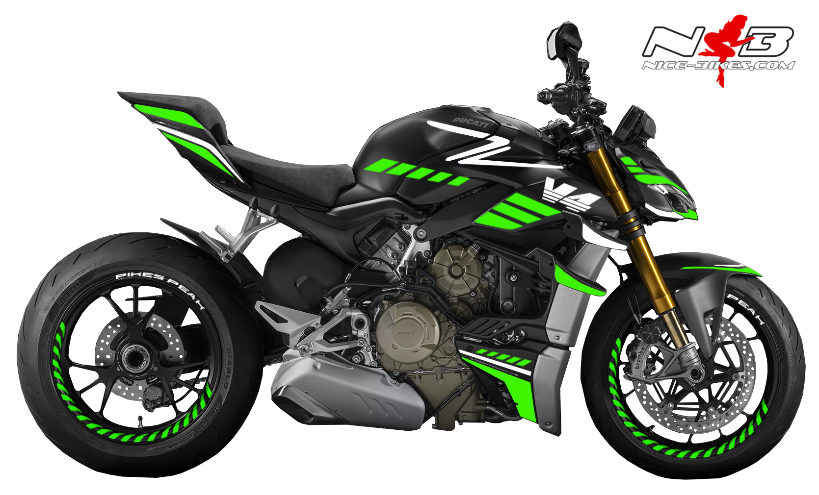 Foliendesign DUCATI Streetfighter ab 2021 SPEED Lime Green