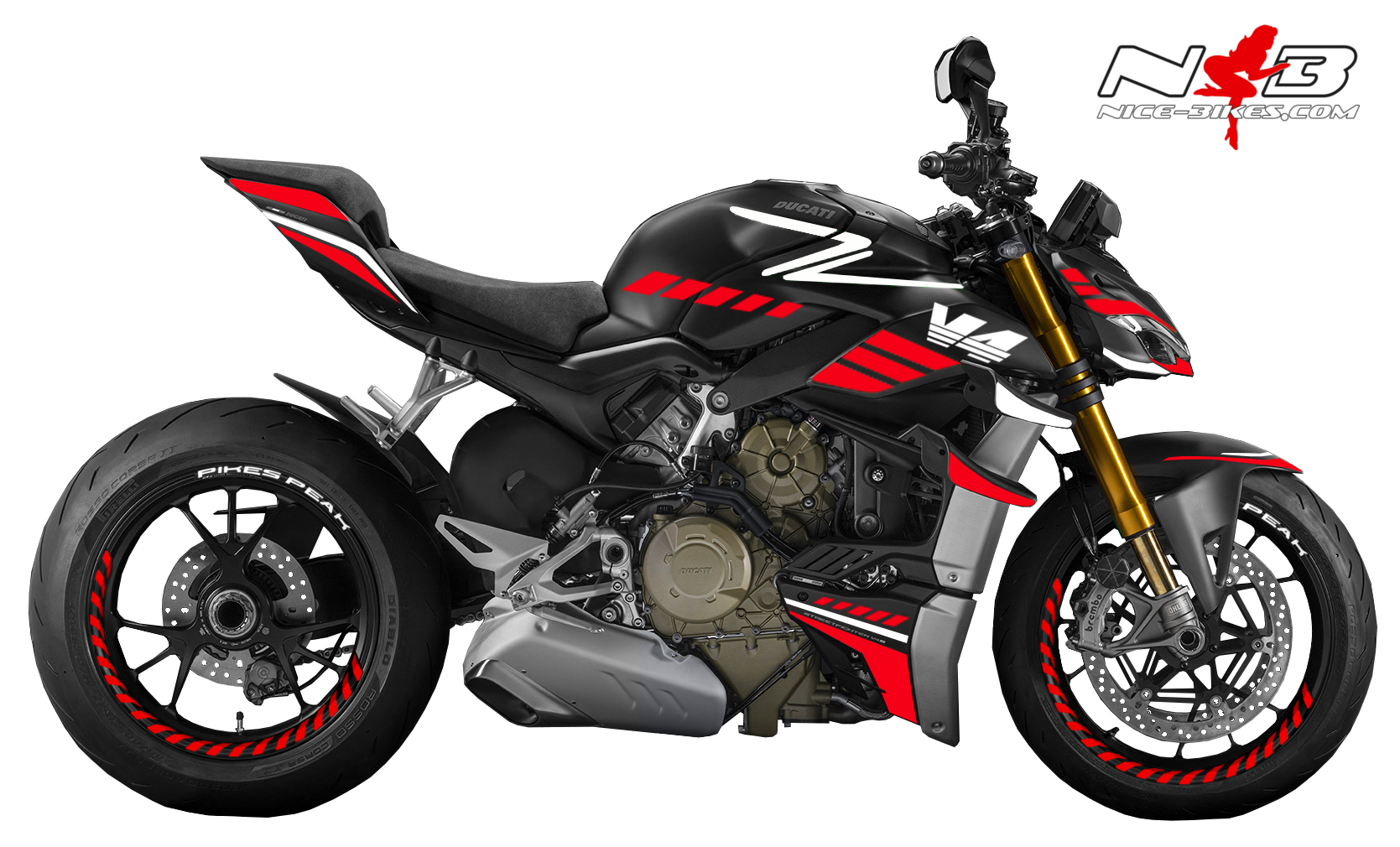 Foliendesign DUCATI Streetfighter ab 2021 SPEED Racing Red